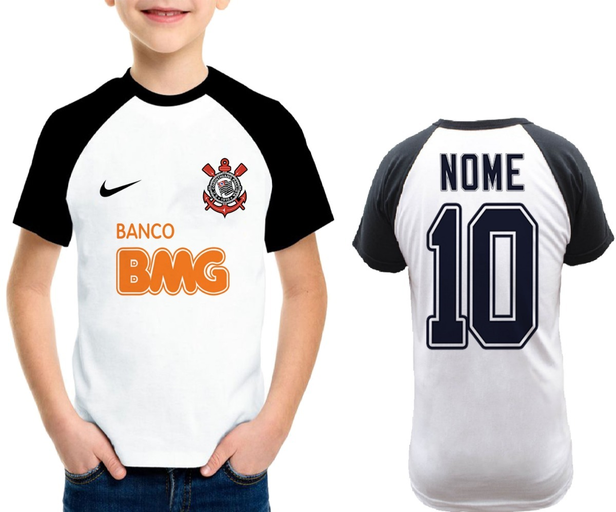 e06052de9129a camiseta infantil corinthians 2019 personalizada raglan. Carregando zoom.
