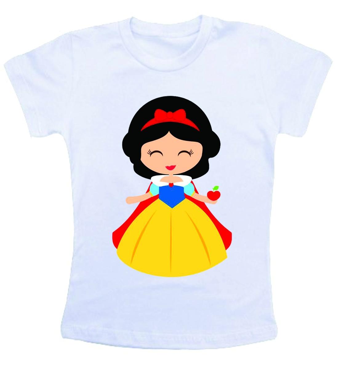 Camiseta Infantil / Criança Desenho A Branca De Neve