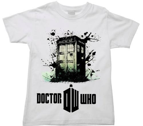 camiseta infantil doctor who tardis christopher david matt 1