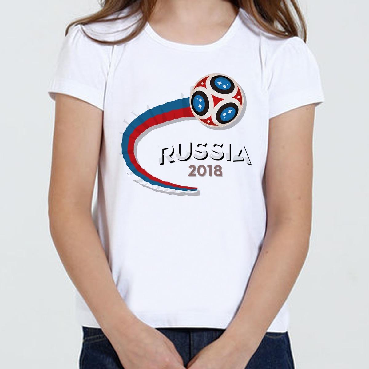 fed7a82b9f02d camiseta infantil feminina - russia world cup 2018. Carregando zoom.