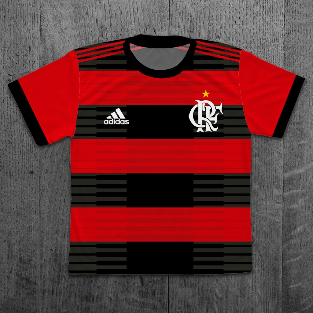 d13ff5a1ab1cd camiseta infantil flamengo 2018 personalizada com nome. Carregando zoom.