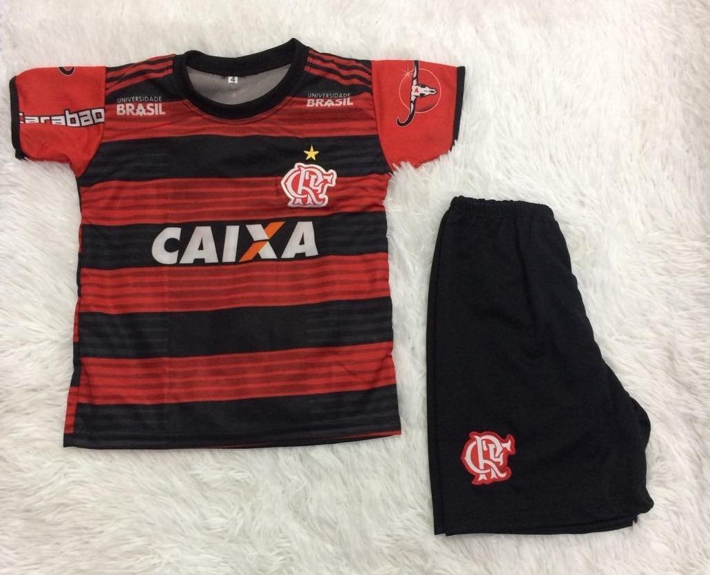 camiseta infantil flamengo mengão kit camisa + shorts 2018. Carregando zoom. c64773a0e7b7d