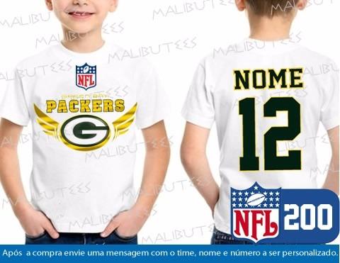 673de6a32 Camiseta Infantil Green Bay Packers Nfl Futebol Americano - R  34