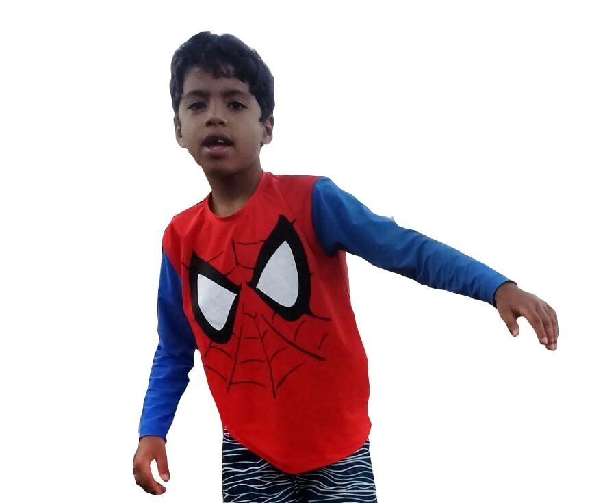 1b7e19b23 camiseta infantil homem aranha com proteção solar uv 50+. Carregando zoom.