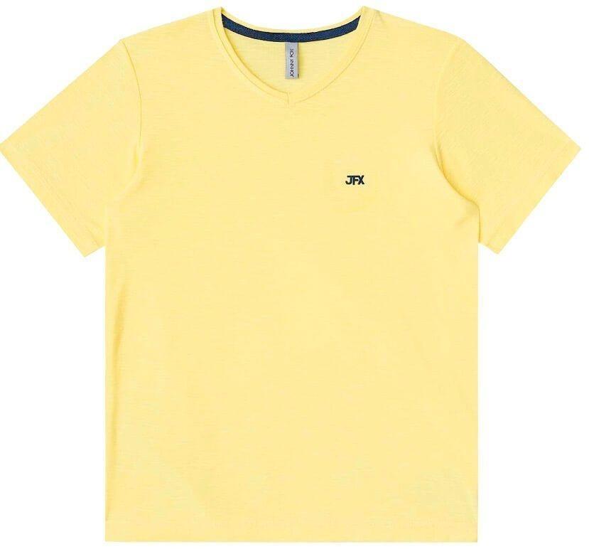 c54be68a7a camiseta infantil johnny fox algodão lisa básica gola v. Carregando zoom.