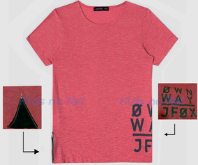 115445a517 Camiseta Fox Rosa Tamanho 8 - Camisetas 8 Vermelho no Mercado Livre Brasil