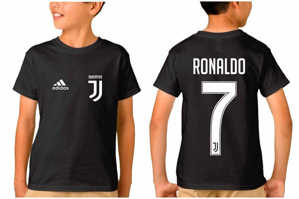 55dde57c3 camiseta infantil juventus cr7 - cristiano ronaldo 2018. Carregando zoom.