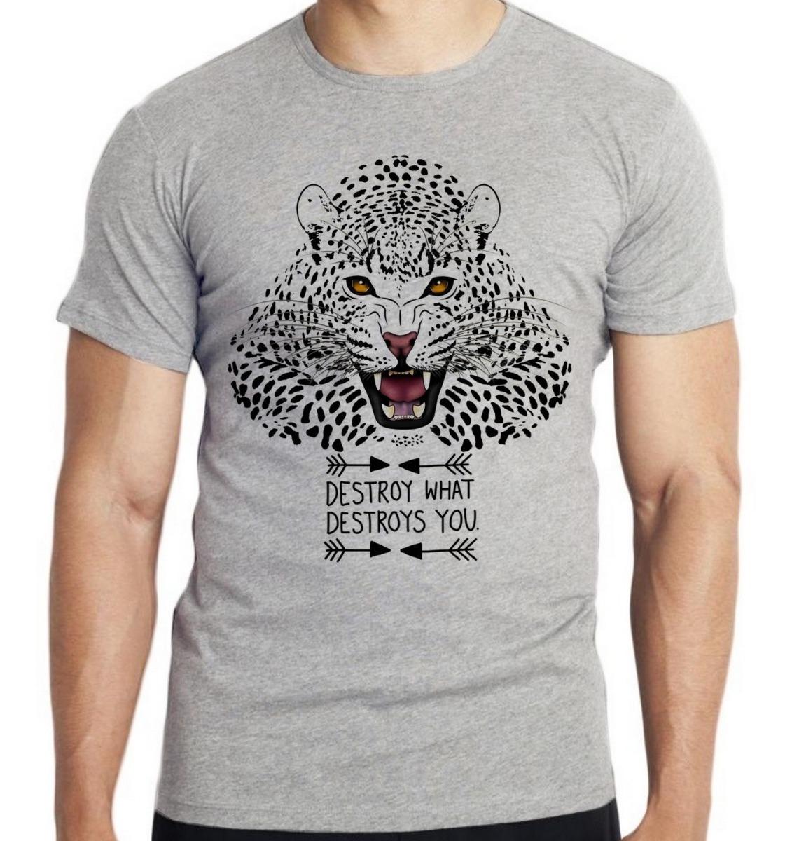 Camiseta Infantil Kids Onca Pintada Tigre Leao Amazonia Exti R