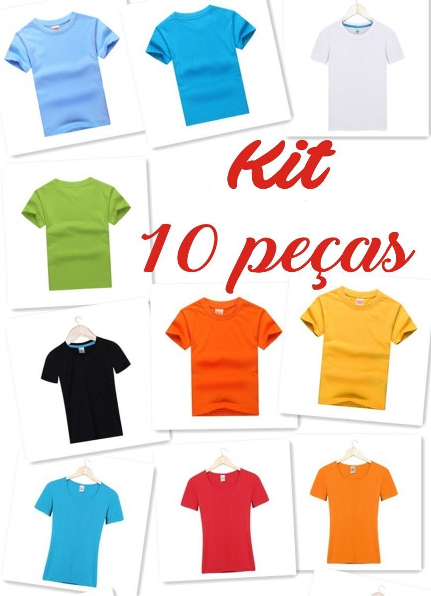 3fb57232b camiseta infantil lisa 100% algodão manga curta kit 10 peças. Carregando  zoom.