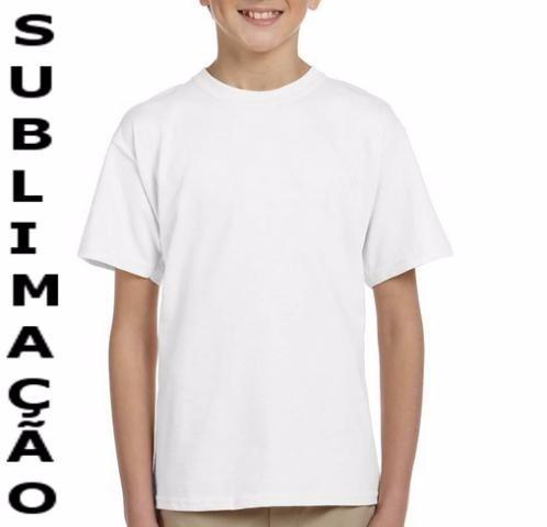 Camiseta Infantil Lisa 100% Poliéster Camisa Sublimação - R  6 6aa92eca41e32
