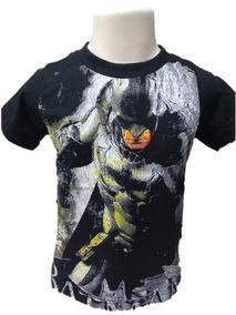 0d1555f061 Camiseta Infantil Batman Camisetas Meninos Manga Curta - Camisetas e ...