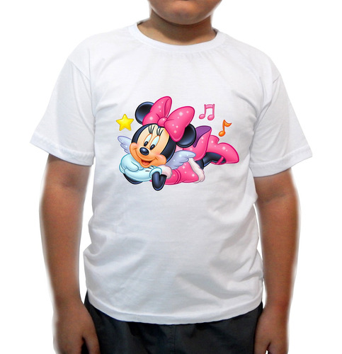 camiseta infantil minnie deitada