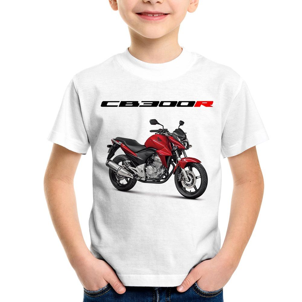 0ec251737a58a camiseta infantil moto honda cb 300 r vermelha. Carregando zoom.