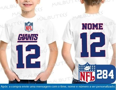 fe88414f409a7 Camiseta Infantil Ny Giants Nfl Futebol Americano New York - R  34 ...