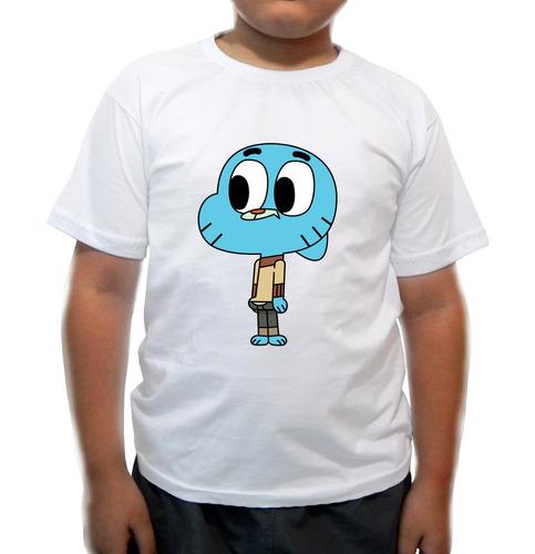 camiseta infantil o incrível mundo de gumball