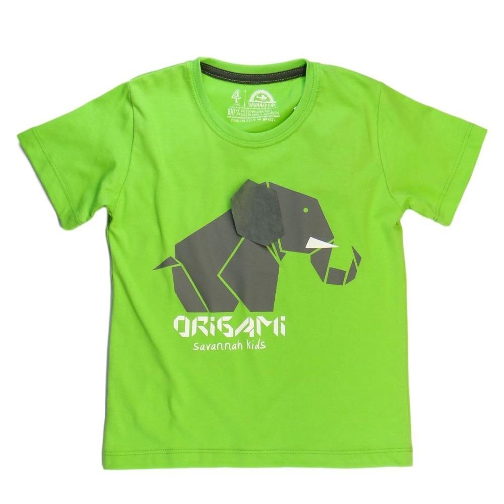 2c6284546a59c camiseta infantil origami elefante - savannah kids. Carregando zoom.