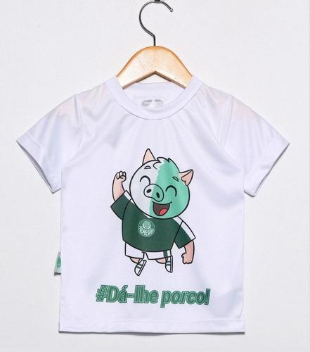 camiseta infantil palmeiras mascote branca oficial