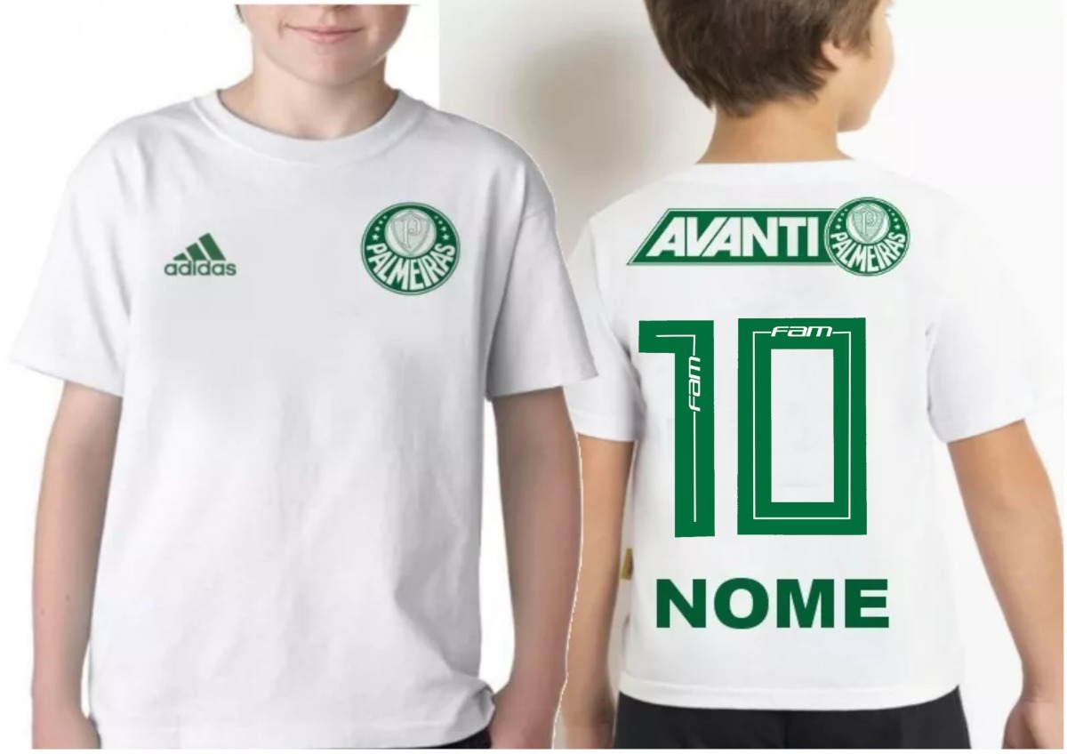 camiseta infantil palmeiras personalizada com nome. Carregando zoom. 8902005a762c2