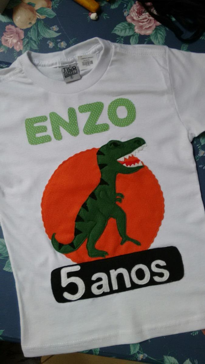 af1787af81 camiseta infantil personalizada dinossauro. Carregando zoom.
