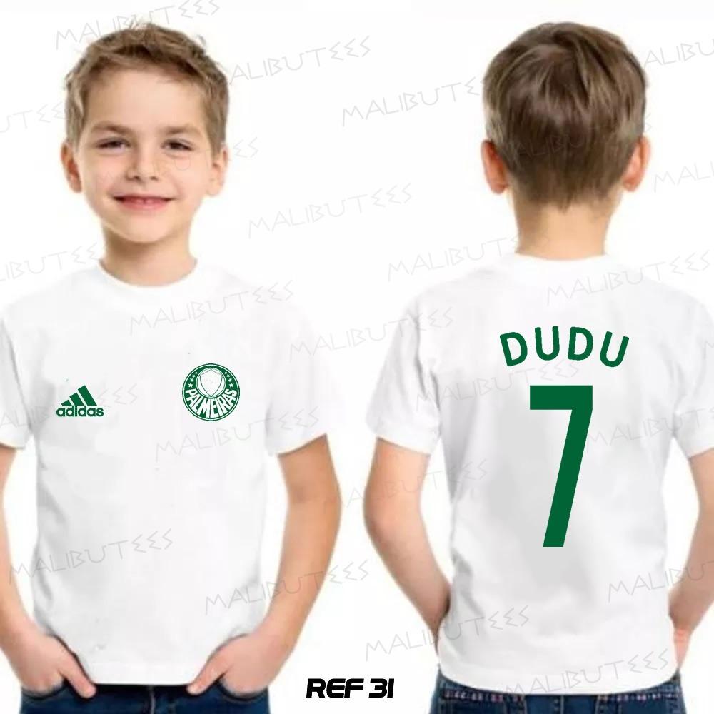 camiseta infantil personalizada time palmeiras dudu 31. Carregando zoom. 63d49bd6bde03