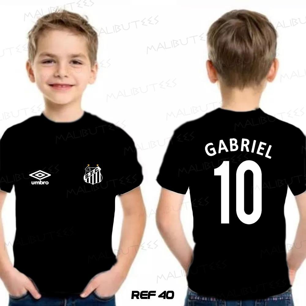 camiseta infantil personalizada time santos gabriel - 40. Carregando zoom. 887916db098cb