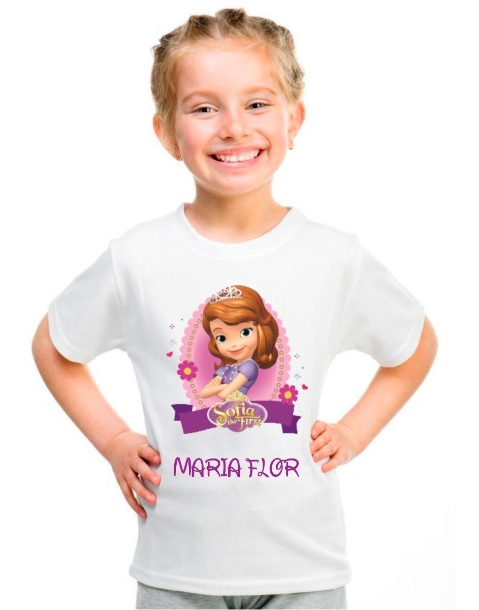 Camiseta Infantil Princesa Sofia Desenho Disney Com Nome R 27