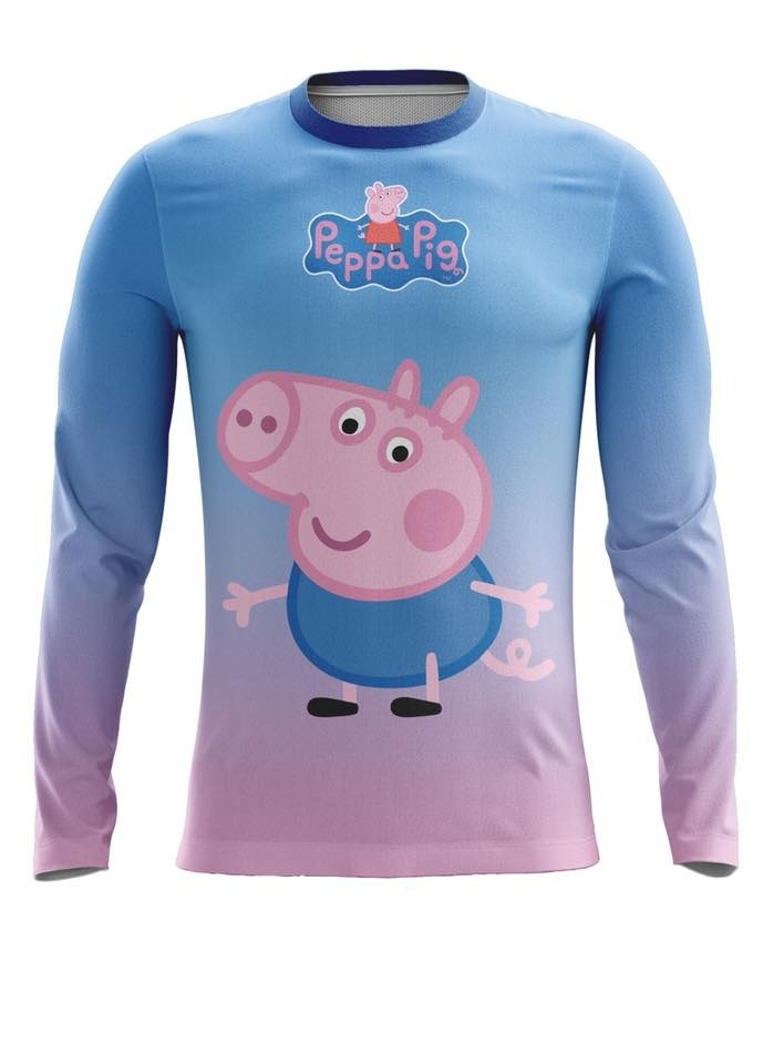 camiseta infantil proteção solar uv fator 50+ george pig. Carregando zoom. 4b43ca2cc59