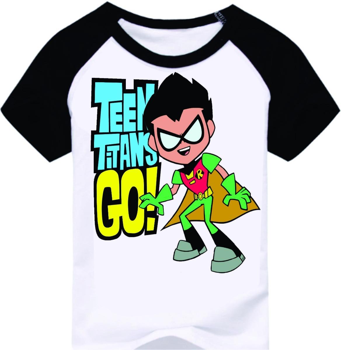Camiseta Infantil Robin Jovens Titas Desenho R 29 90 Em
