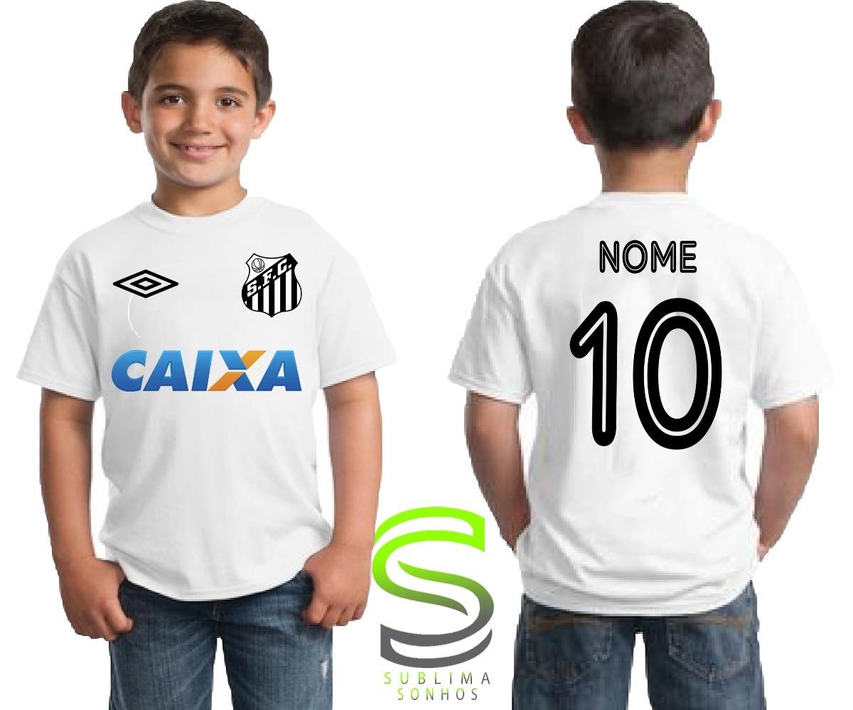 camiseta infantil santos personalizada. Carregando zoom. e80ebefec878e