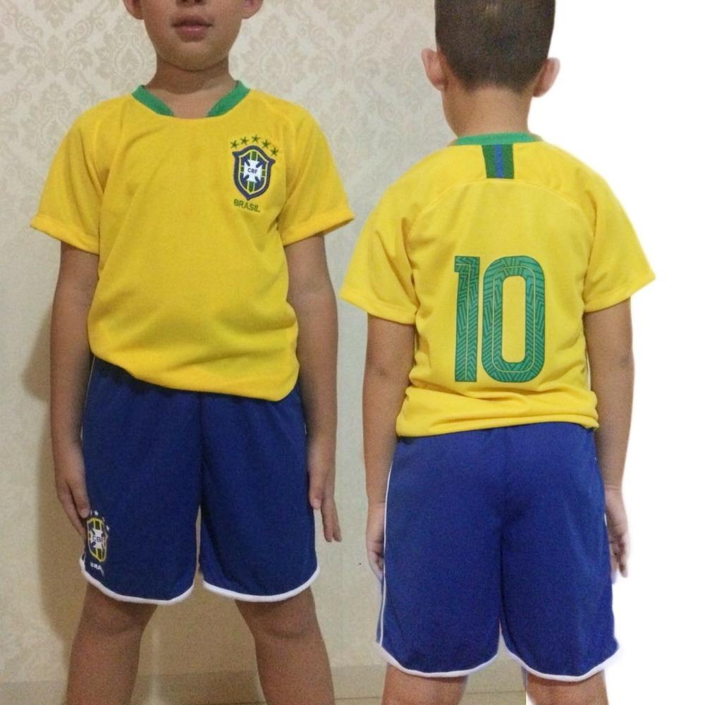 47a9adae0 Camiseta Infantil Seleção Brasileira 2018
