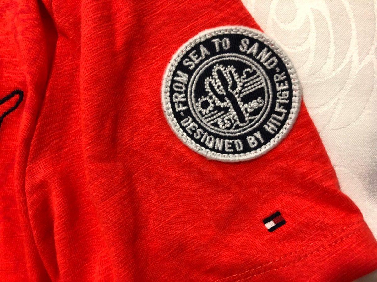 658d3e0196 camiseta infantil tommy hilfiger mc laranja 8-10 anos. Carregando zoom.