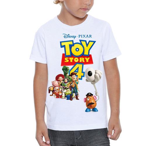 camiseta infantil toy story 4 personalizada pronta entrega