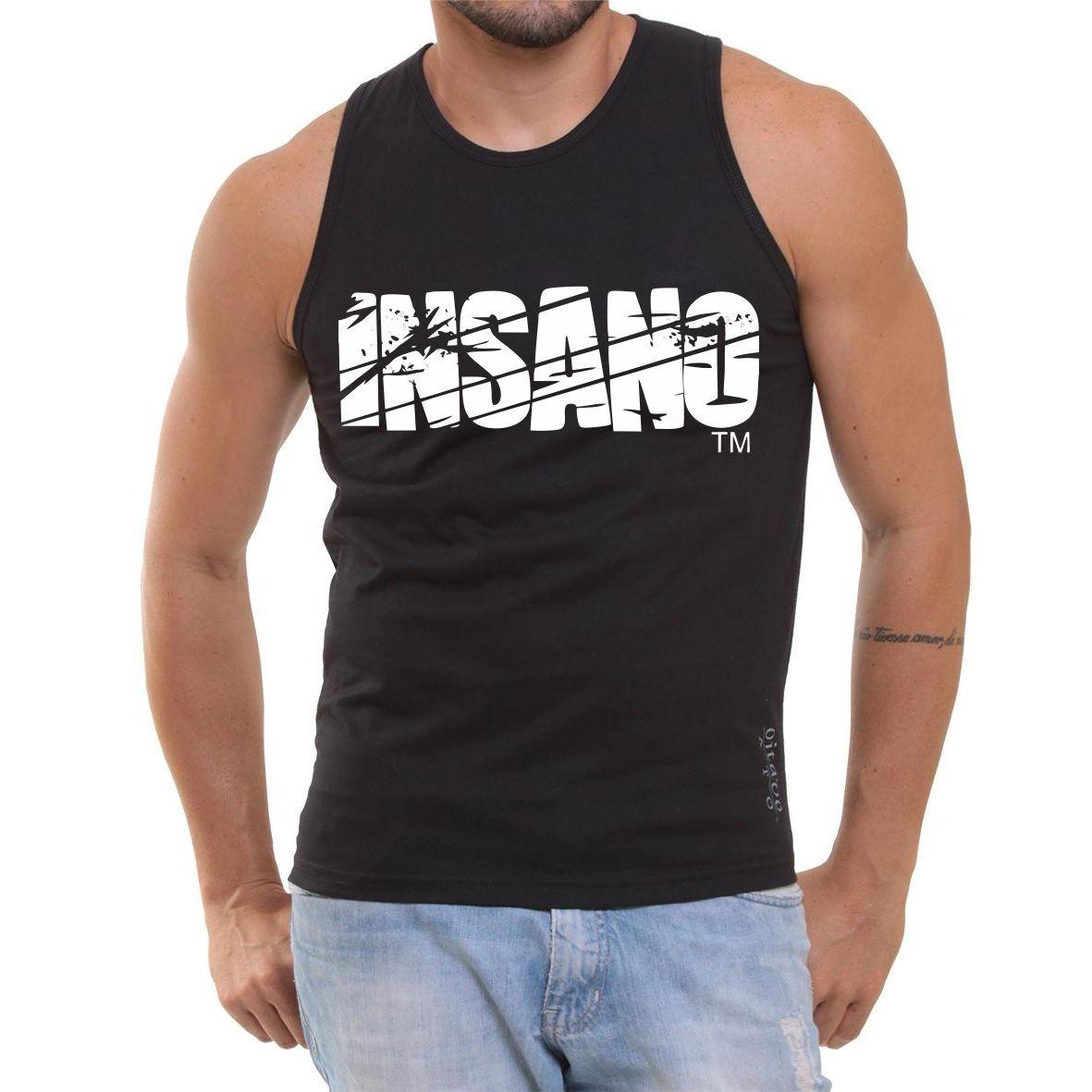 camiseta insano camisa regata musculação fitness academia. Carregando zoom. 17fcf4140db