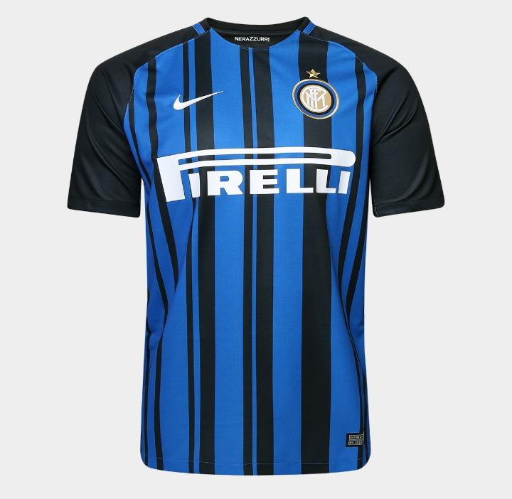 Camiseta Inter De Milão Temporada 2017 18 (frete Grátis) - R  139 f0d91210ca9d4