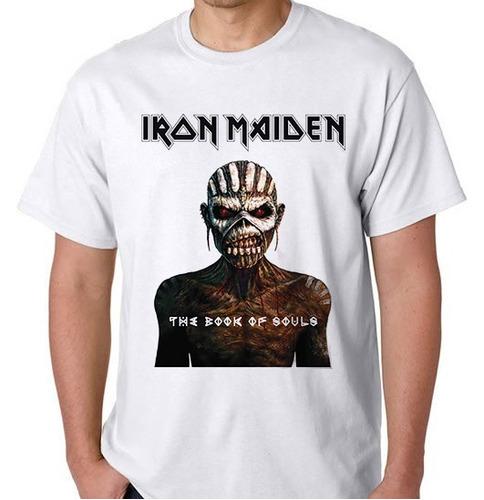 120a255b1 Camiseta Iron Maiden Banda Rock Heavy Metal Camisa Blusa - R  39