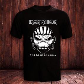 456585214b Camisa Iron Maiden The Book Of Soul - Calçados, Roupas e Bolsas com ...
