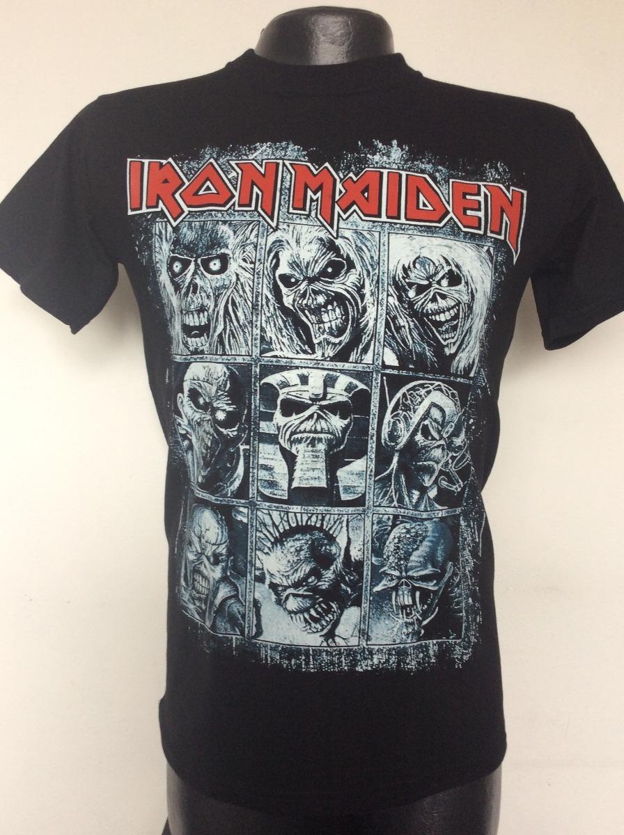 04a77b8a Camiseta Iron Maiden Collage Eddie Rock Metal Anime Salsa - $ 19.990 ...