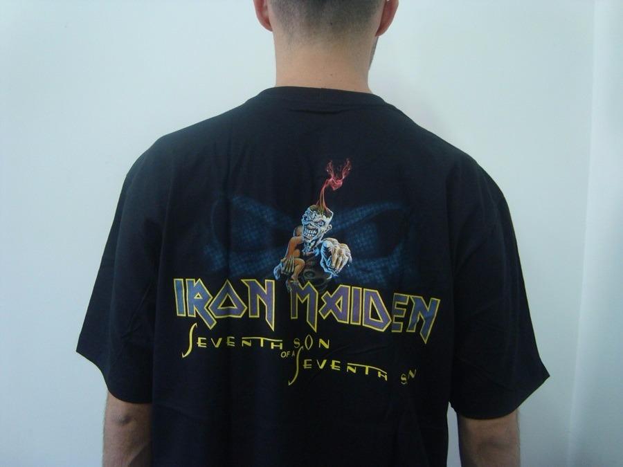 bc2778e8b4 camiseta iron maiden - seventh son of a seventh son. Carregando zoom.