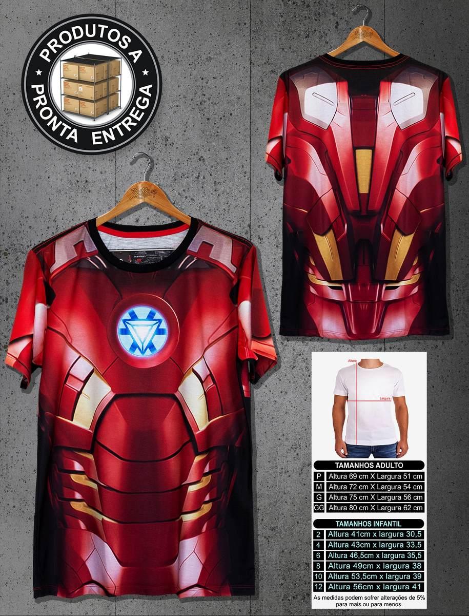 camiseta iron man homem de ferro avengers masculino camisa. Carregando zoom. 57c06e70dedf5