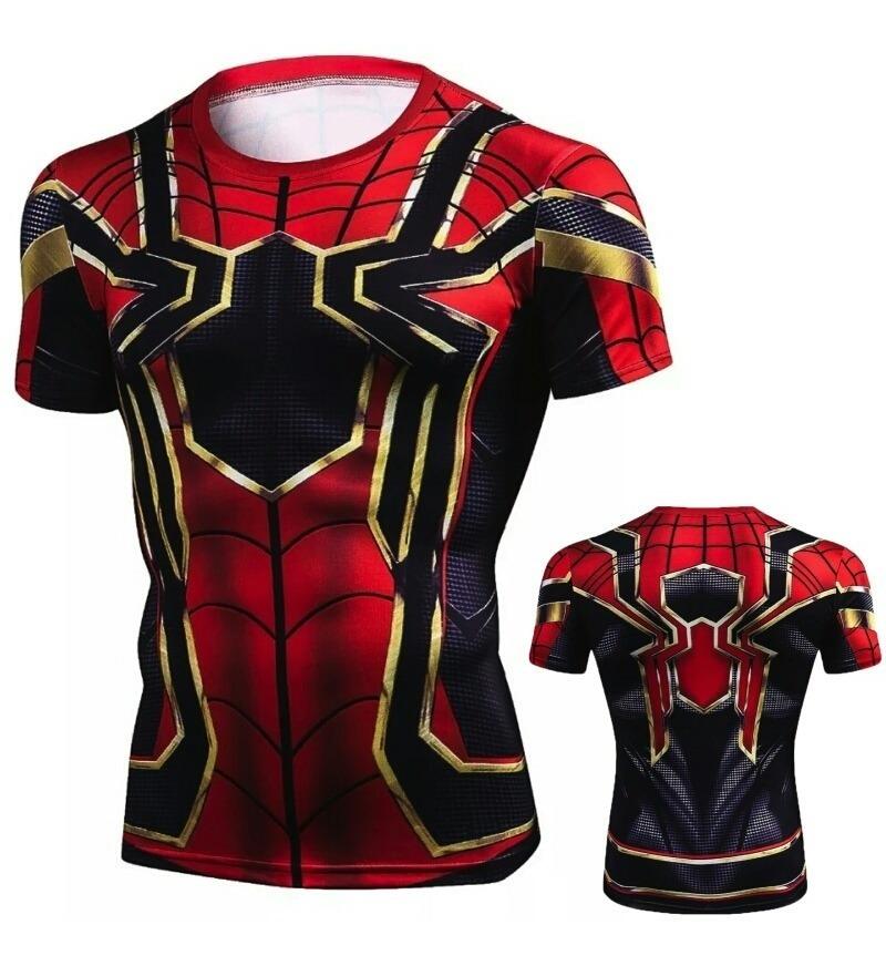26651fae77 Camiseta Ironspider Gym Lycra Spandex Marvel Comics Avengers ...