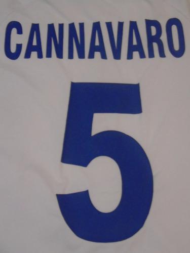 camiseta italia kappa euro holanda bélgica 2000 cannavaro #5
