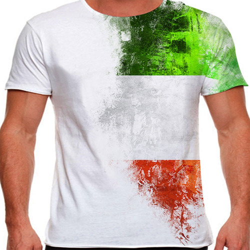 camiseta itália side paint masculina