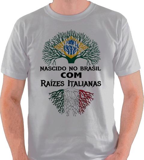 Camiseta Italiano Descendente Itália Camisa Blusa - R  34 e2d0b4c8b54e1