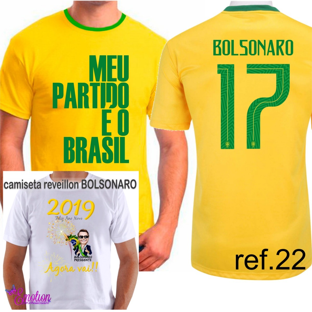 camiseta j. bolsonaro meu partido é o brasil camisa amarela. Carregando  zoom. 38029d15fcf9f