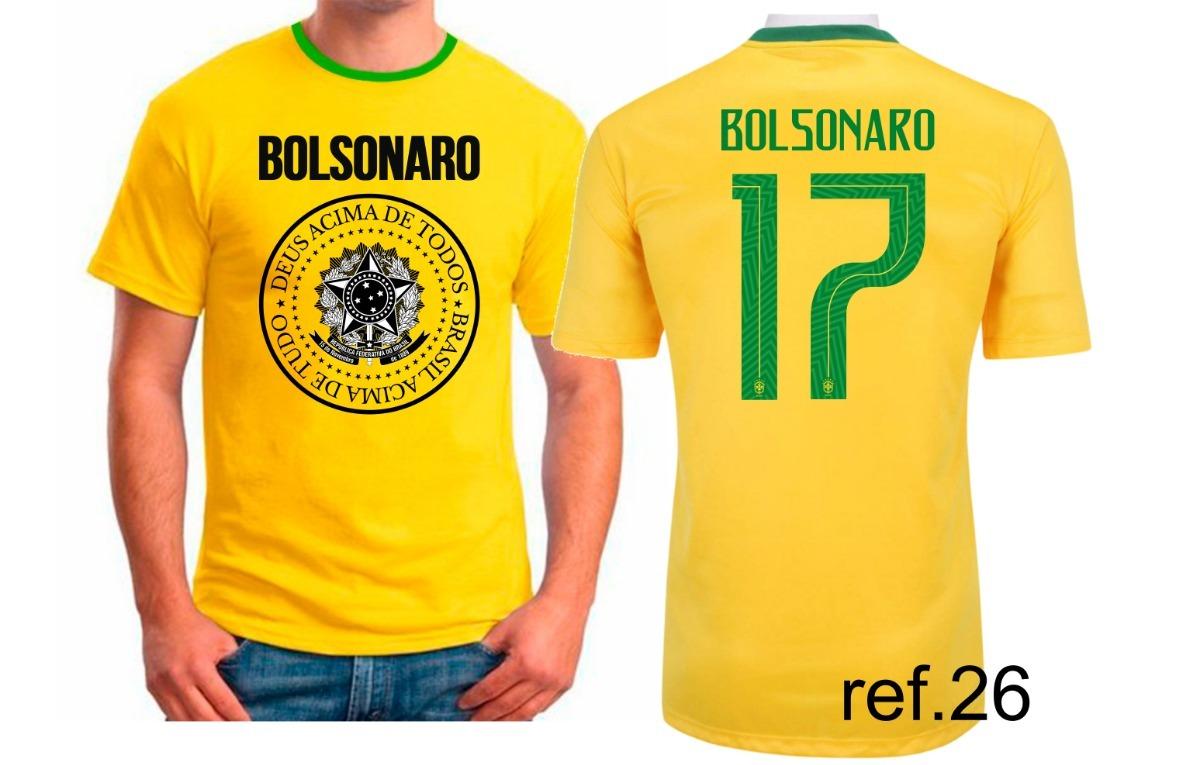 camiseta j. bolsonaro meu partido é o brasil camisa amarela. Carregando zoom . 972c6606d83bc