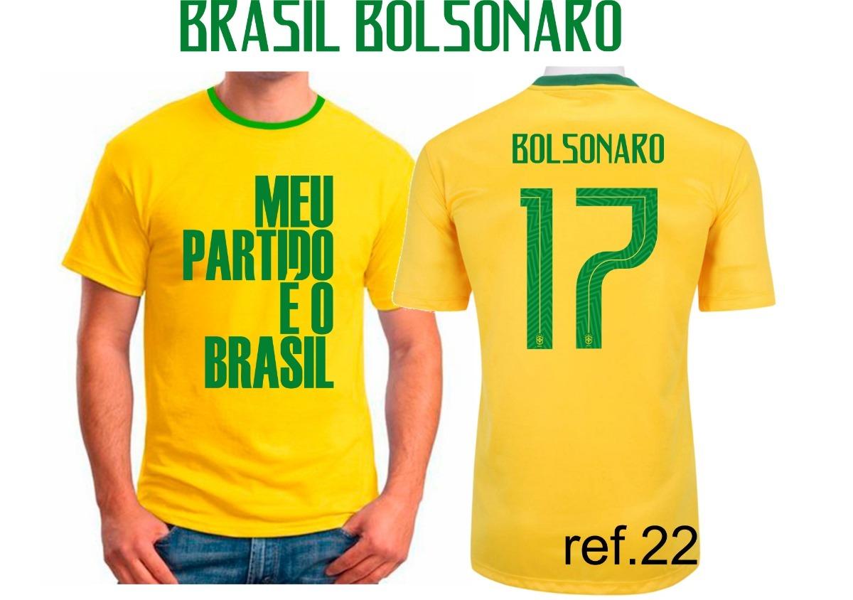 Camiseta J. Bolsonaro Meu Partido É O Brasil Camisa Amarela - R  48 ... b2cb5b9eab724