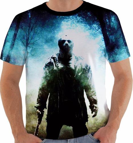 camiseta jason voorhees - sexta feira 13 - filmes m166