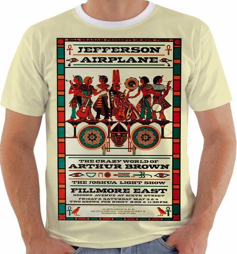 camiseta jeferson airplane concert poster live fillmore m086