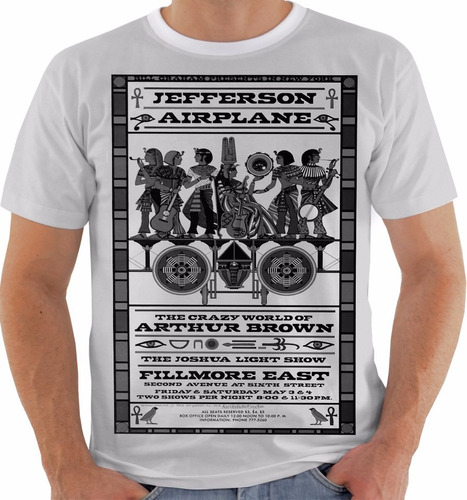 camiseta jefferson airplane concert poster live fillmore pb