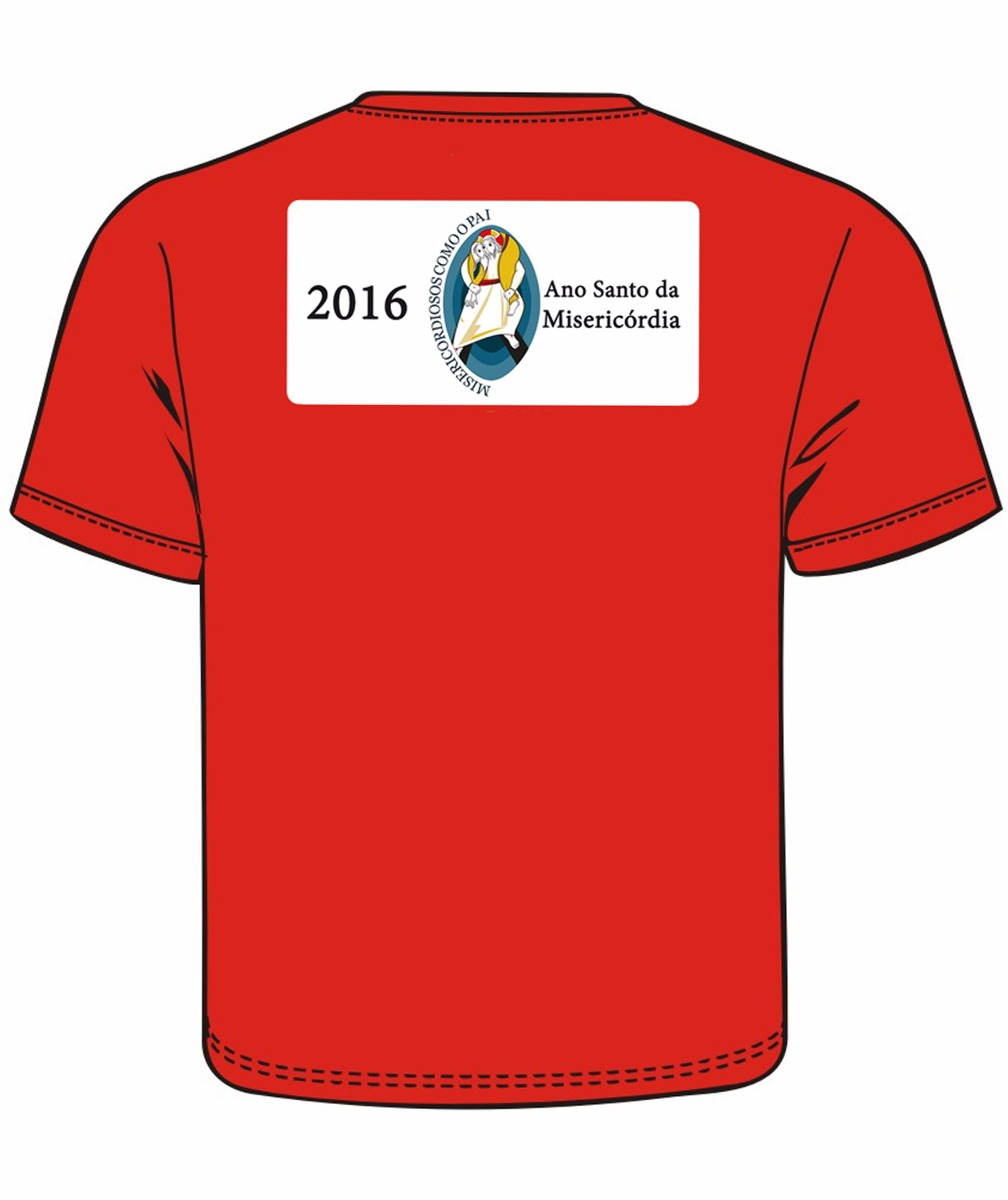281e615d1 Camiseta Jesus Misericordioso Cor Vermelha